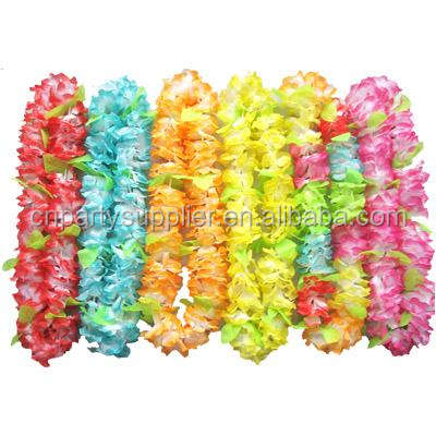 Hawaiian Zijden Bloem Lei Luau Party Hula Wedding Graduation Plastic Kunstmatige Hawaiiaanse Lei