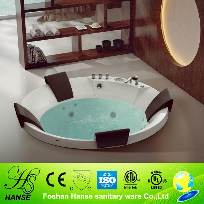 HS-B1606T subterrâneos quatro pessoa círculo massagem banheira acrílica