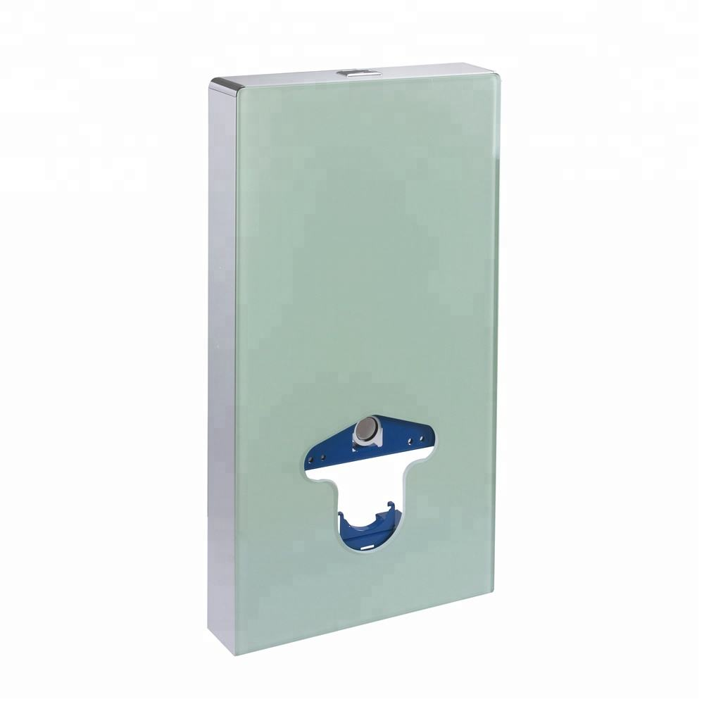 glass cover inwall toilet concealed flusht tank for wall hung wc