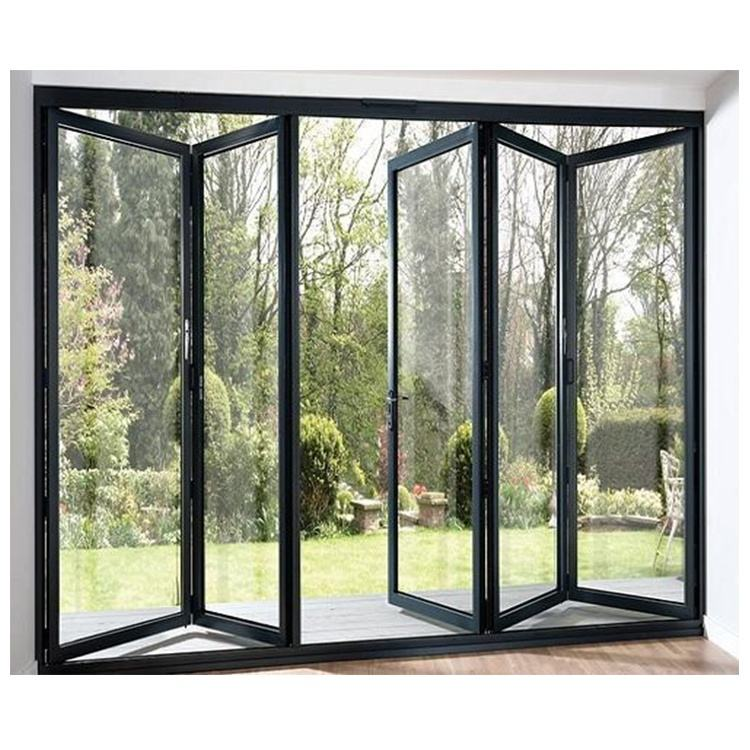 Cheap Price Outdoor Waterproof Aluminium Folding Doors, Foldable Tempered Glass Door Price,Aluminium Bifold Door