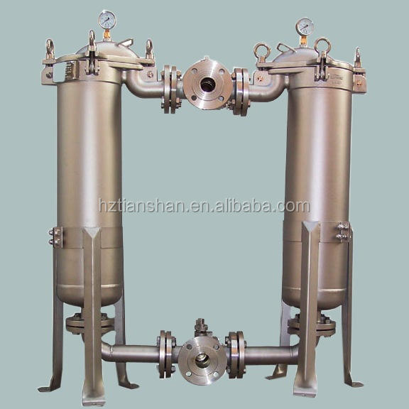 Stainless steel double filter for syrup honey purification
