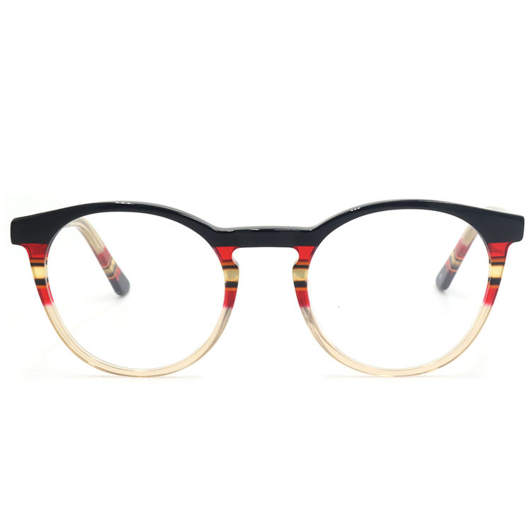 Classic Luxury Red Frame Laminated Optical Eyeglasses Glasses For Women