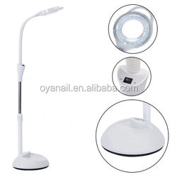Guanzhou Oya brand wholesale Hot sale 5X foldable skin inspection cool light beauty salon LED magnifying lamp stand