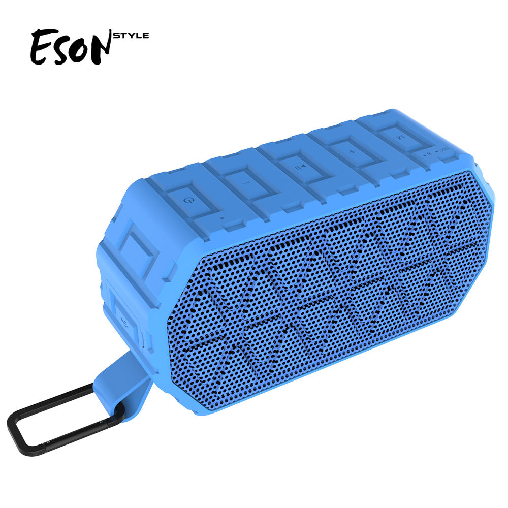Eson Style waterproof IPX6 1000mAh Portable Outdoor Stereo speaker, Energy Saving Bluetooth Speaker Top seller 2019 for Amazon