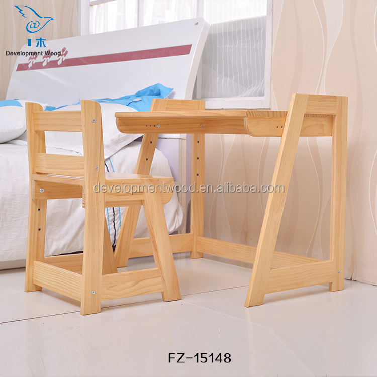 Pine Solid Wood Children Furniture Kids Table/Desk For Study