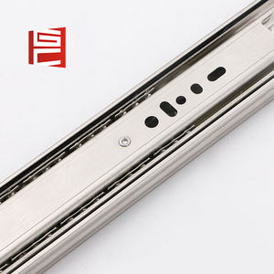 Stainless steel soft close kitchen 3-fold ball bearing drawer slide 45mm