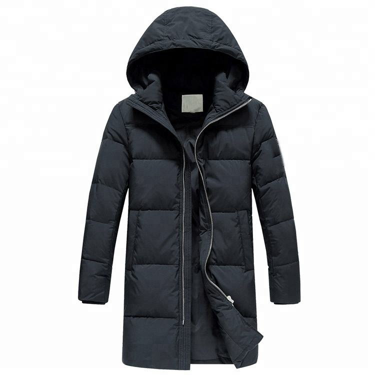 Long style down jacket men hooded winter men's coat