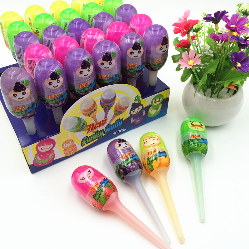 New arrival cute fruit flavor rolly liquid candy