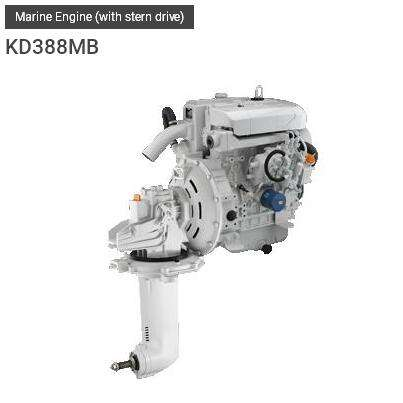 KIPOR Marine diesel engine for boat with stern drive
