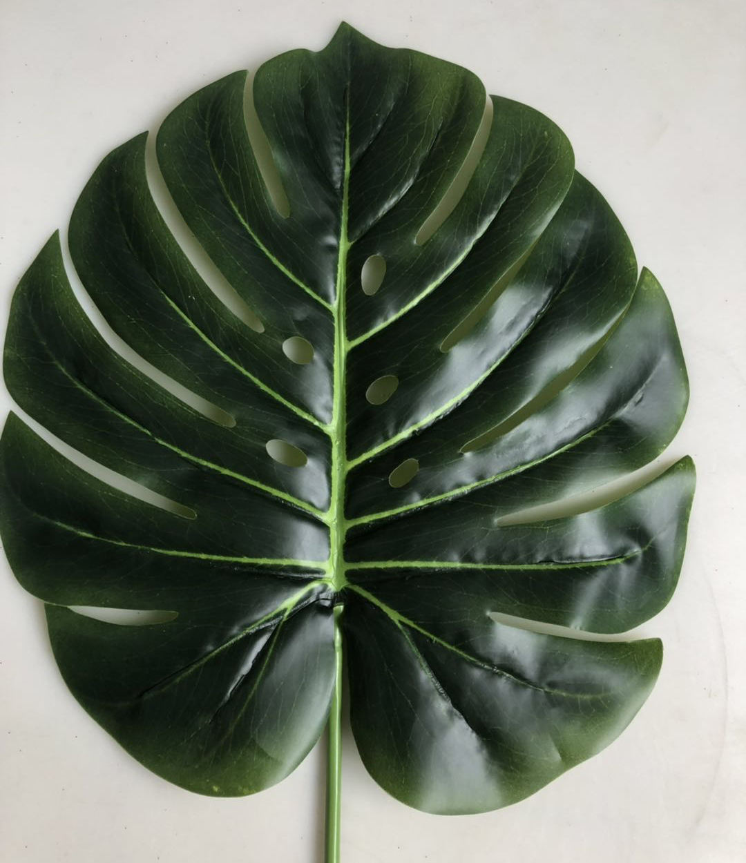 High-End Artificial Monstera Leaf Split Philodendron Stem Living Room Decor 40cm Tall