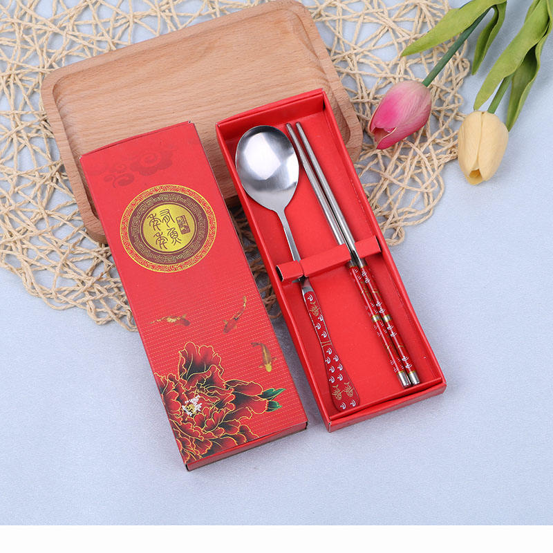 Baptism Giveaway Gifts Red Box Spoon And Chopsticks Wedding Gifts For Guests