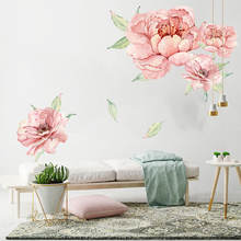 Living room wall decor 3d removable furniture flower decals