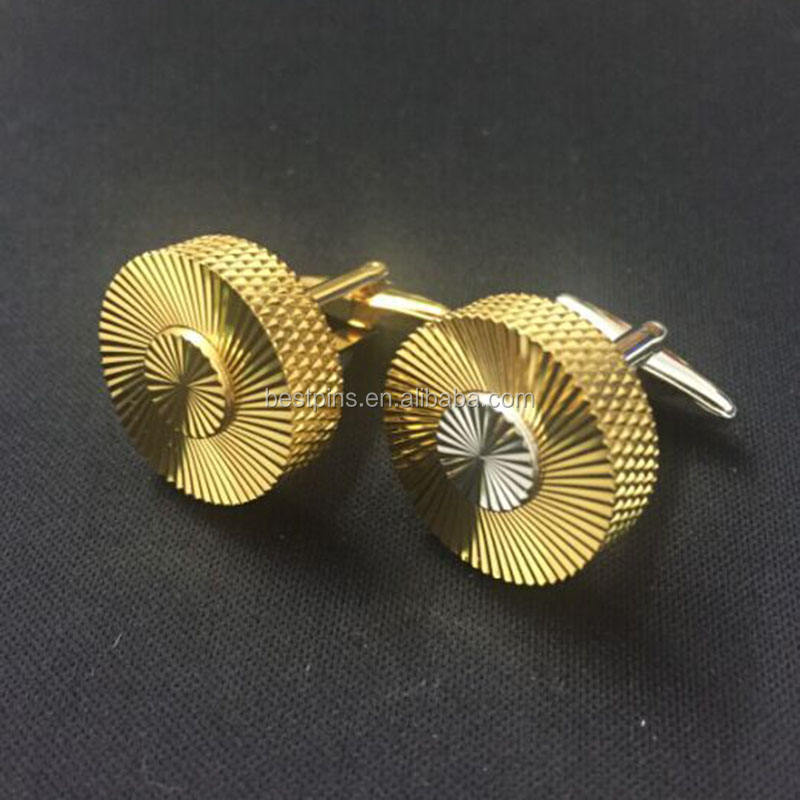 cheap price saudi 18k gold plating jewelry bulk cufflinks for sale