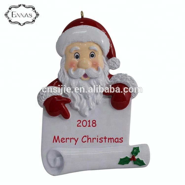 Polyresin Personalized Christmas Ornaments Home Decoration
