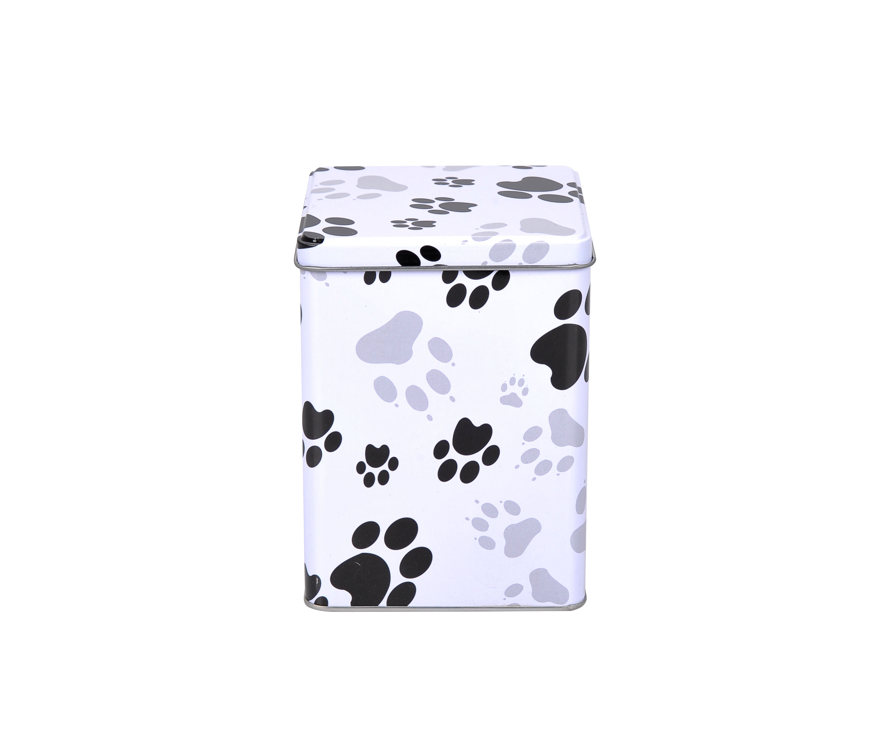 틴 metal pet 항아리는 및 boxes 와 paw print custom design