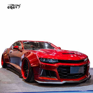 Beautiful newest wide body kit for Chevrolet Camaro in MB style carbon fiber front lip rear lip side skirts fender wing spoiler