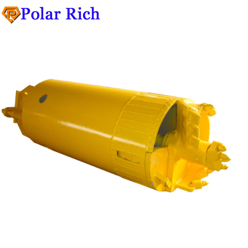 Double Bottom Single Open Hole Cleaning Drilling Bucket With Bullet Bits