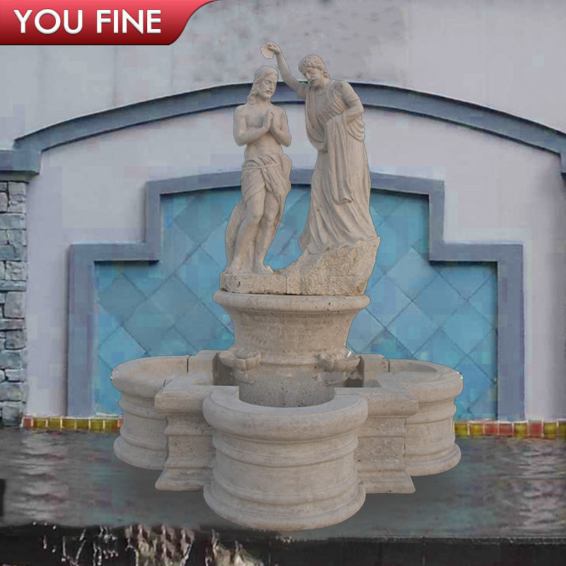 Outdoor Garden Decorative Hand Carved Marble Jesus Fountain