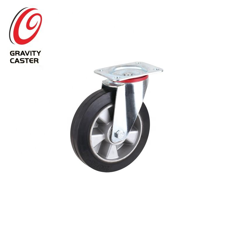 European Style Hign elastic Black Solid Rubber Caster Wheel Manufacturer