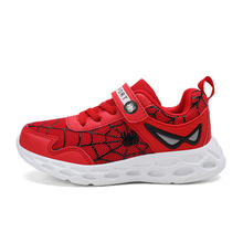 Fashion Spiderman  Boy Girl Children Casual  Mesh Upper Sport Kids Shoes