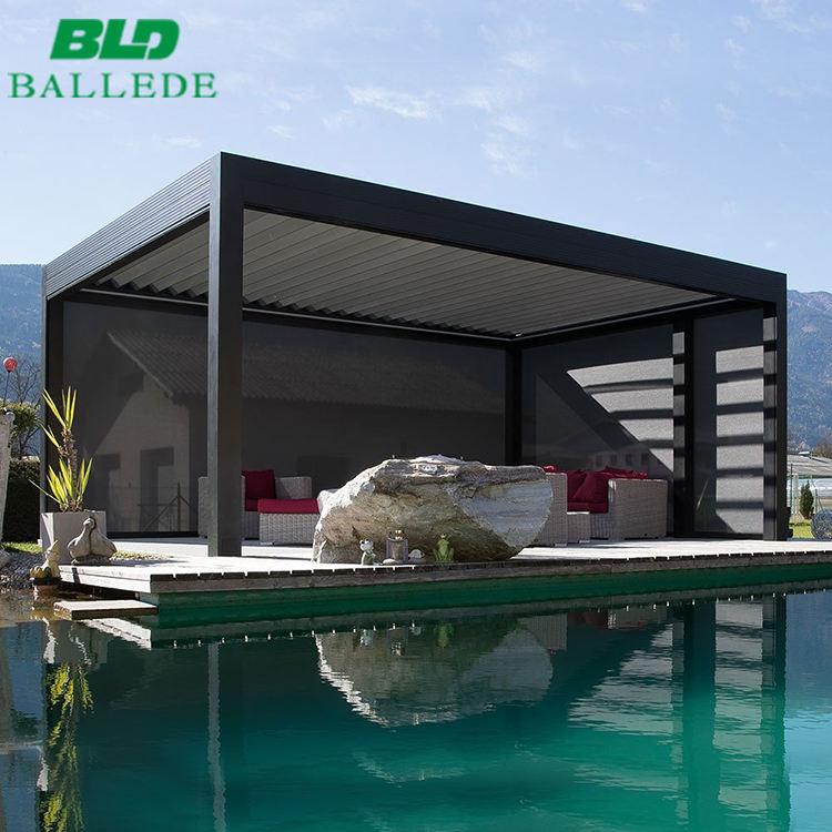 De aluminio a prueba de agua <span class=keywords><strong>terraza</strong></span> o Patio Gazebo motorizado muebles al aire libre de la lumbrera