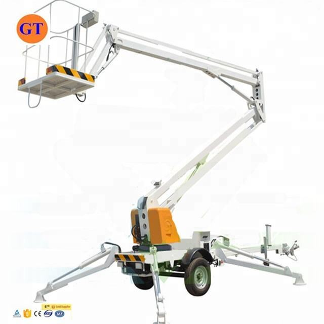 Trailer mounted boom lift used manlift cherry picker