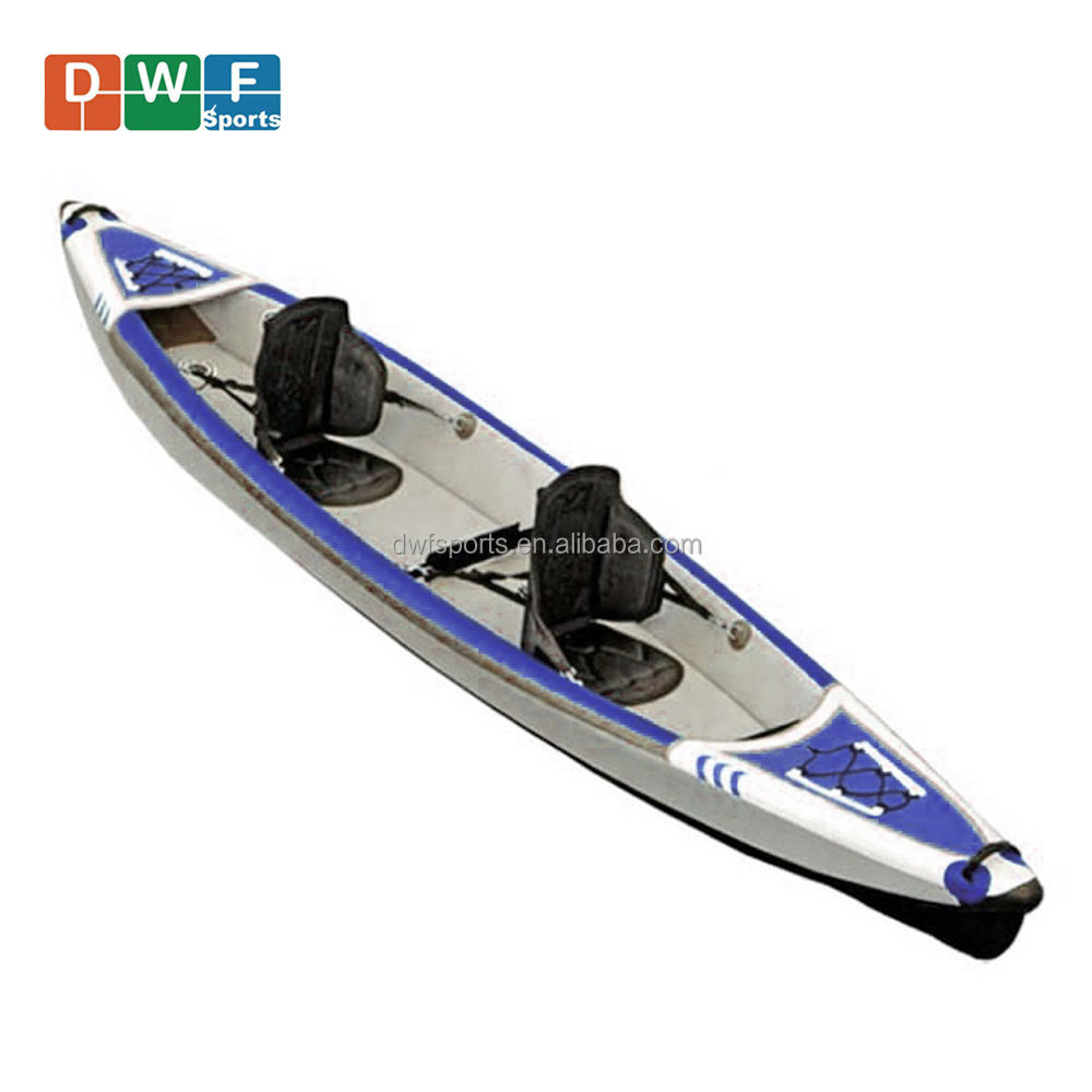 Inflable gota de Kayak individual o doble asientos inflables kayak plegable 2 personas