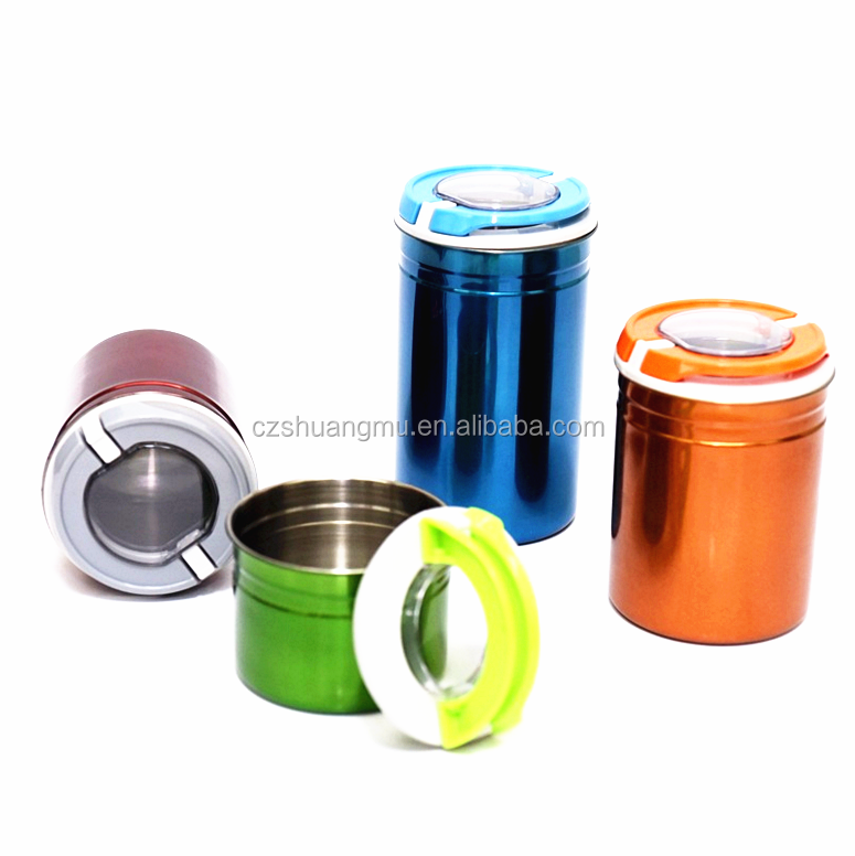 Wholesales colorful steel kitchen canister setS
