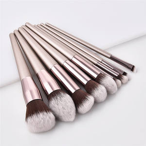 10pcs cosmetic make up brush Champagne color makeup brushes set