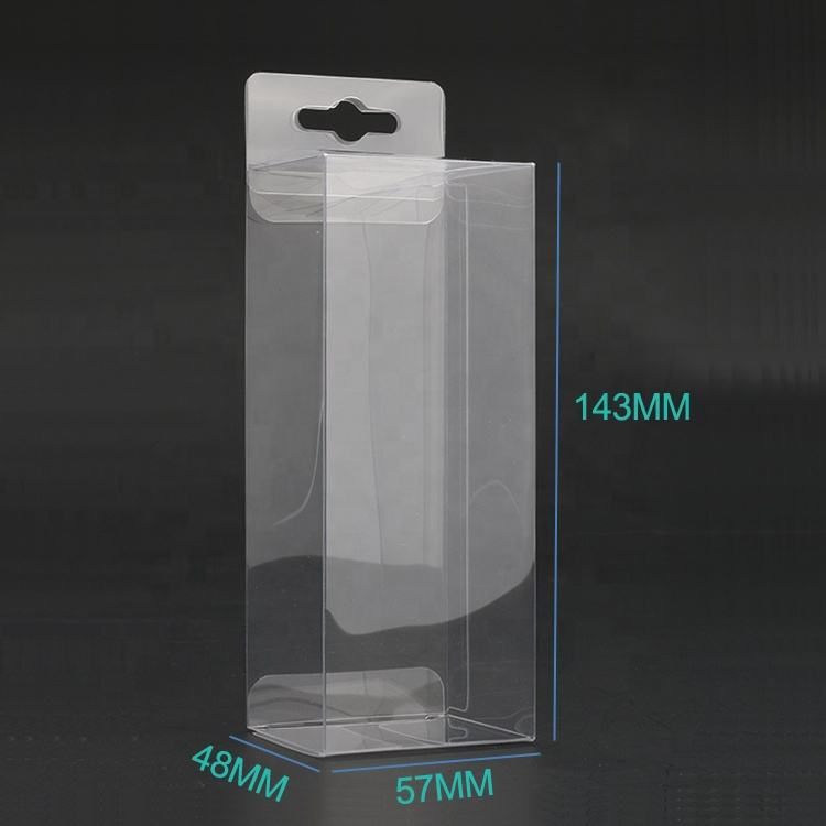 Transparent Plastic Printed PVC Display Packaging Folding Acetate Box Clear Vinyl PVC PET Plastic Gift Box Packaging Box