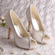(21 Colors) Ivory Satin Wedding Bridal Shoes in China
