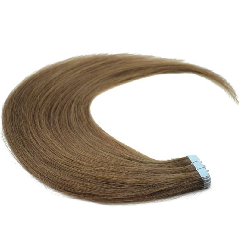 AFPELO Top Grade Great Lengths #6 Brown Color Straight Skin Weft Invisible Best Tape In Hair Extension Remy Human Hair