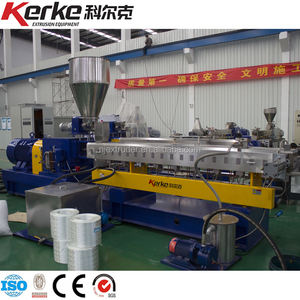 Nanjing China Plastic Twin Screw Nylon Glass Fiber Pellet Machine Extruder And Pelletizer