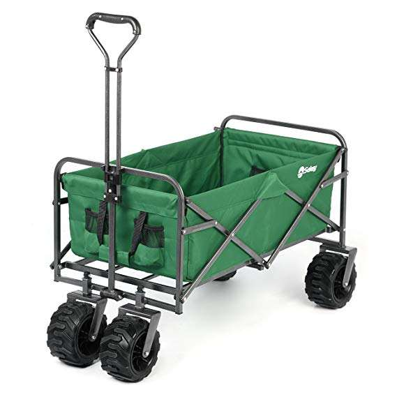 Foldable Folding Trolley Hand Cart Folding Beach Wagon Outdoor Garden Trolley SUITABLE FOR ALL TERRAIN