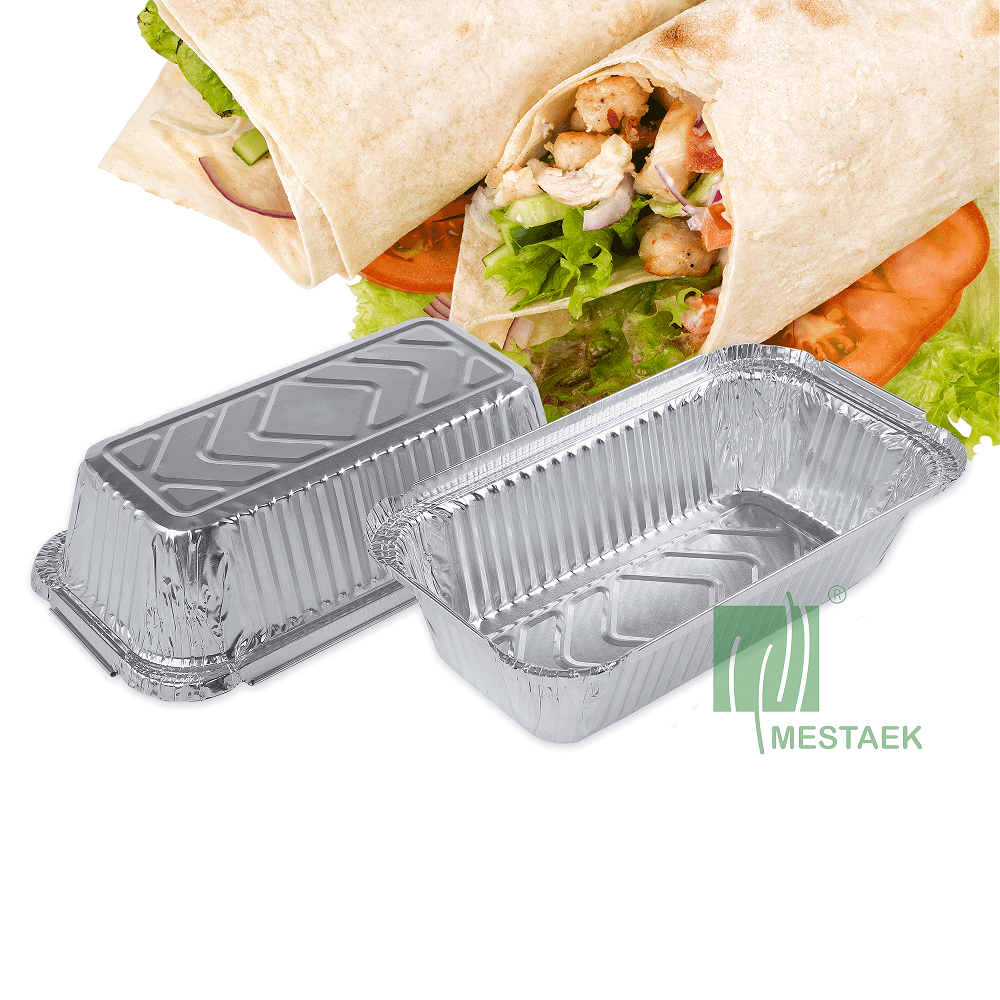 No.6A Aluminum Foil Container with Lid for Food Packaging