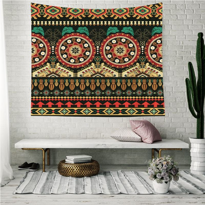 Wholesale Custom Size Ethnic Indian Art Wall Hanging Designs Tapestry For Beds