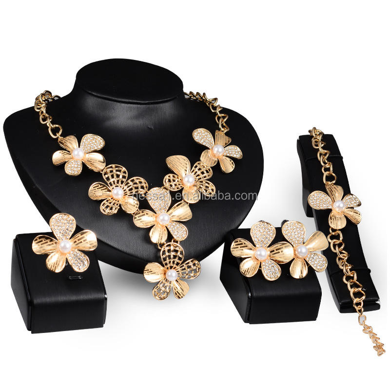 Fashion pearl jewelry for women 4pcs one set Wholesales NSJS-00041