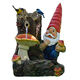 funny unique gnomes figurines outdoor resin fountain