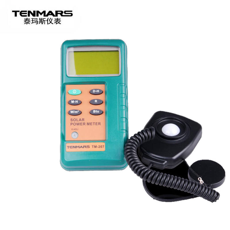 TENMARS Solar Radiation measurement Solar Power Meter Solar transmission measurement Solar power research