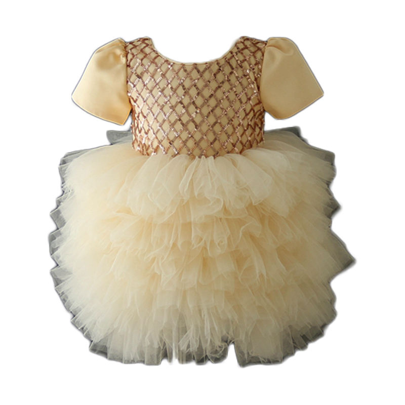 Boutique Ruffle Pettiskirt French Dress PINK IVORY