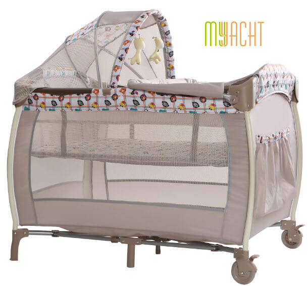 Wholesale sun shield White cloth material portable multi-purposes plastic baby crib