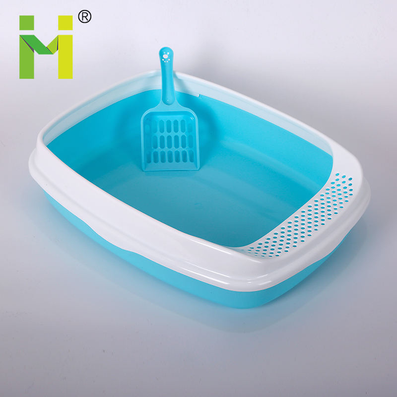 Hot selling Plastic Pet Litter Tray W cat pan with scoop