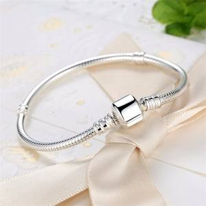 Snake Chain 925 Sterling Silver Bangle Bracelet
