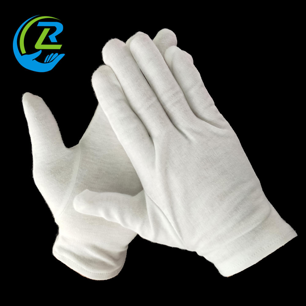 China interlock 5008 disposable thin work white eczema cotton gloves