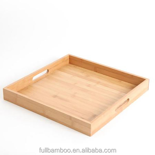 bar restaurant wood tray set for coffee, beer, tea