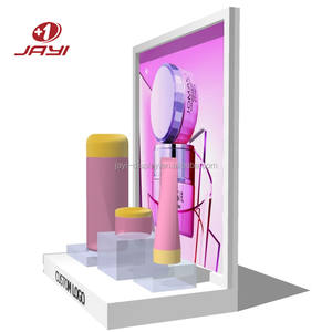Custom Made Pop Acryl Make Up Display Stand/Cosmetische Make-Up Teller Display