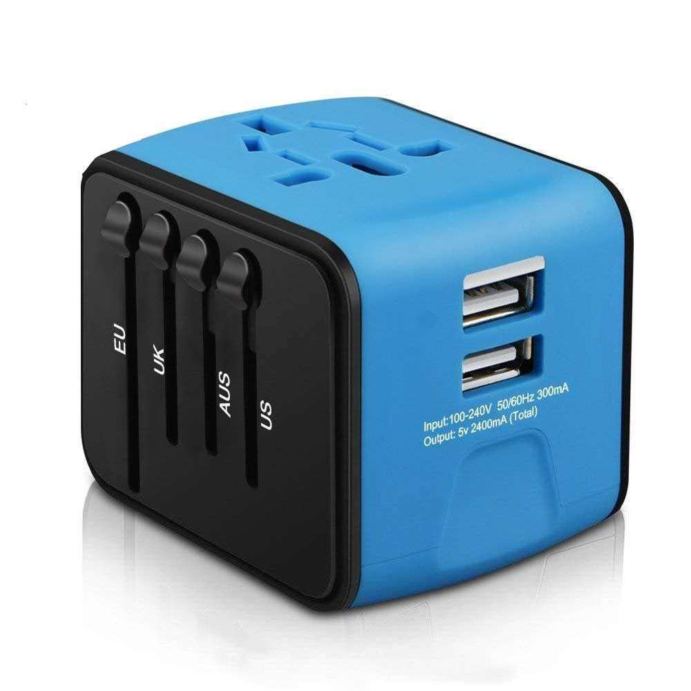 Universal-Reise adapter EU AU US UK-Stecker All-in-One-Netzteil mit Dual-USB-Universal adapter