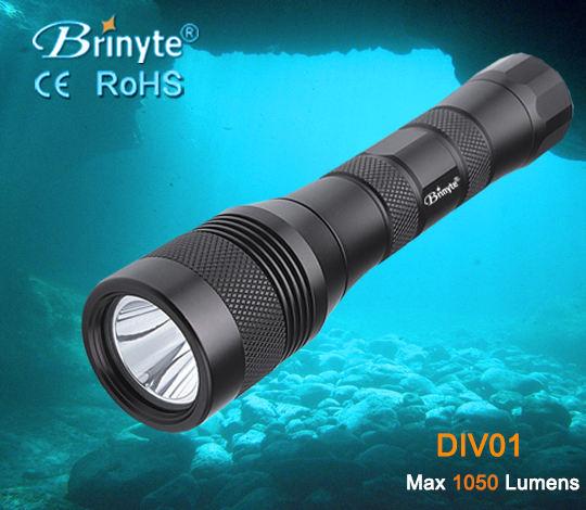Brinyte DIV01 profesional de alta potencia de la linterna de buceo