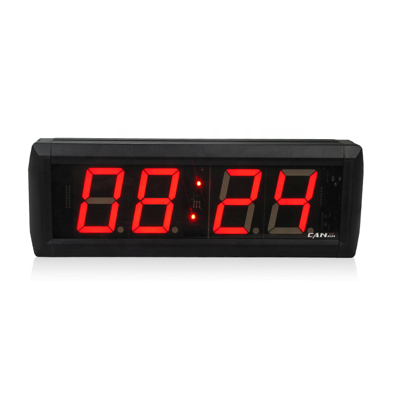 "Ganxin Led Display 1"" Red Digital Wall Led Countdown Timer 6 Digits 7 Segment Led Display For Indoor"