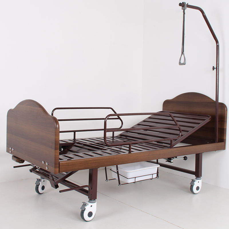A-182 Hospital Furniture One Crank Manual Hospital Bed For Sale